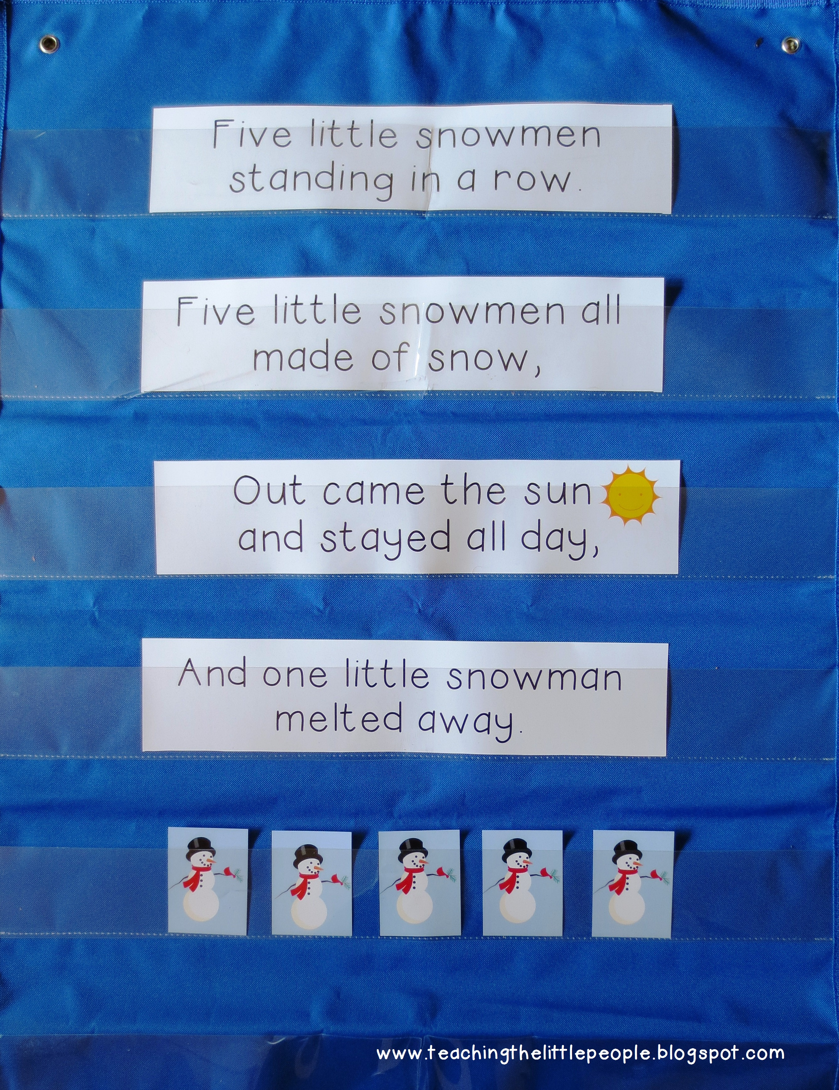 ... Pocket Chart Songs and Poems Easier to Use::Teaching The Little People