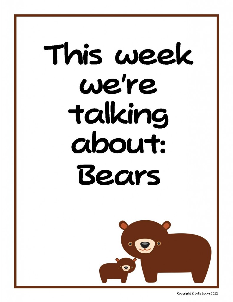 Bears Preschool Theme Sign from www.teachingthelittlepeople.com