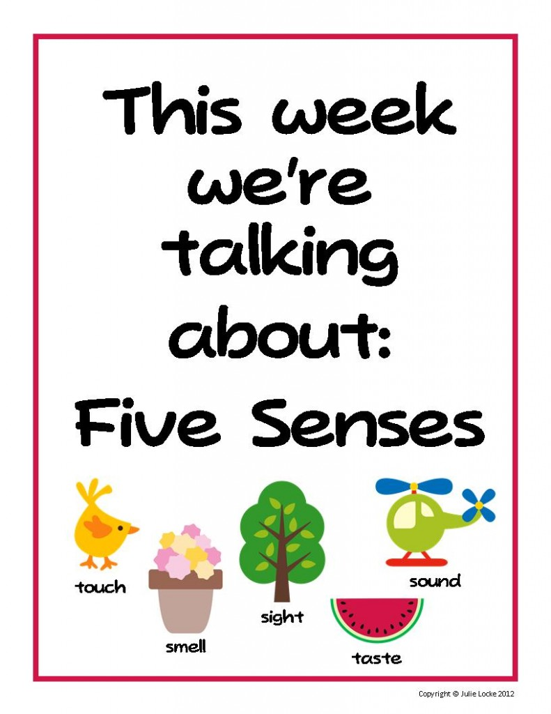 This Week Were Talking About Five Senses on 5 Senses Worksheets For Preschool Education Com