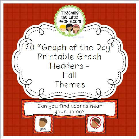 Fall Daily Graph Printables - 20 Full-Color Graph Questions Image
