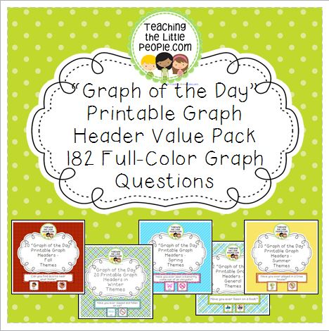 Daily Graph Printables Value Pack - A Graph Question for Every Day of the Year Image