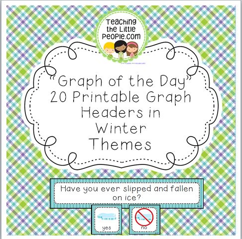 Winter Daily Graph Printables - 20 Full-Color Graph Questions Image