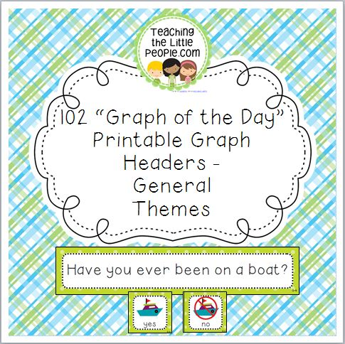 General-Themes Daily Graph Printables - 102 Full-Color Graph Questions Image