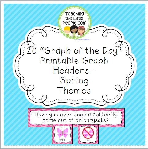 Spring Daily Graph Printables - 20 Full-Color Graph Questions Image