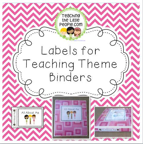 Printable Labels for Making Themed Teacher Binders Image