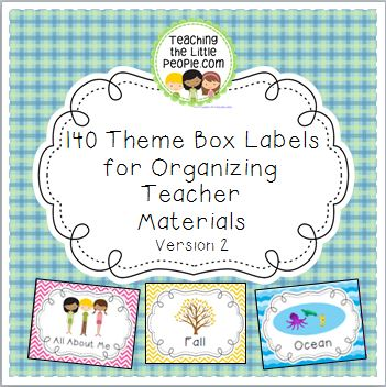 Printable Teacher Box Labels, Version Two Image