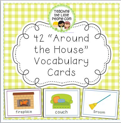 Around-the-House-Vocab-Cards-Thumbnail-Page-One