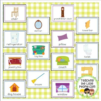 Around-the-House-Vocab-Cards-Thumbnail-Page-two