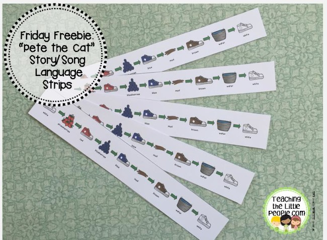 Pete the Cat Friday Freebie by teachingthelittlepeople.com