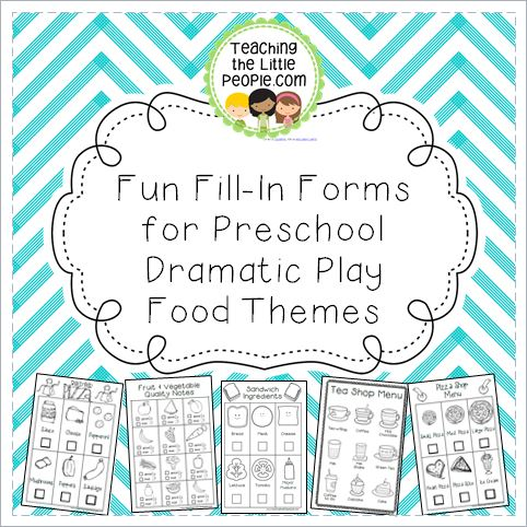 Dramatic Play Center Printables for Preschool & Kinder (Food Themes) Image