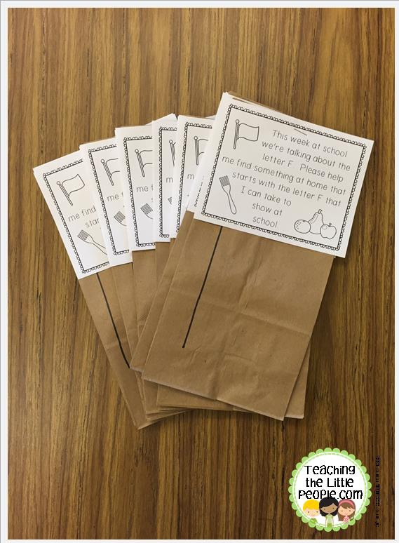 letter of the week show and tell bags in our ec sped class::teaching