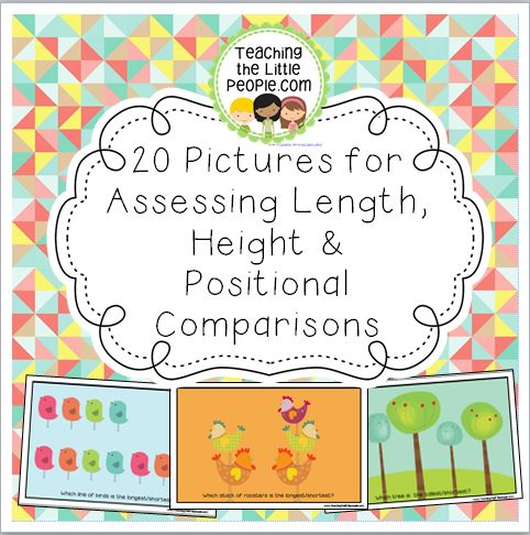 20 Pictures for Teaching & Assessing Length, Height & Positional Comparisons Image