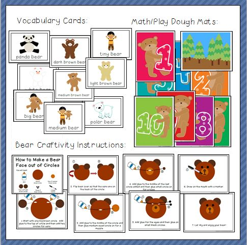 Bear Printables and Activites Thumbnail Four