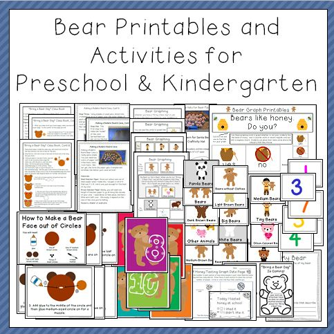 Bear Printables and Activites Thumbnail One