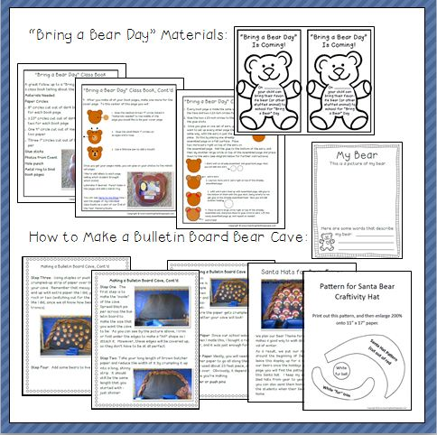 Bear Printables and Activites Thumbnail Two
