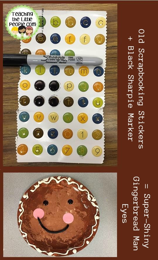 ... Paper Plate Gingerbread Man Eyes from Bubble Stickers  sc 1 st  Teaching the Little People & Paper Plate Gingerbread People from Pinterest