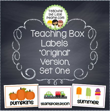 Preschool Theme Labels for Organizing Materials Image