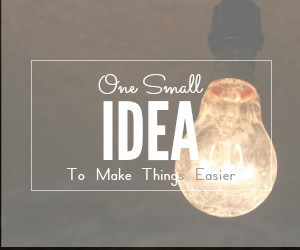 one small idea