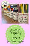Printable Frosting Can Labels : teachingthelittlepeople.com