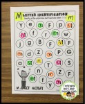 Using stickers for letter identification : teachingthelittlepeople.com